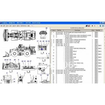 Phần mềm tra cứu phụ tùng KOMATSU LINKONE
