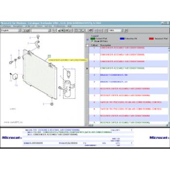 Phần mềm tra cứu phụ tùng LANGE ROVER MICROCAT